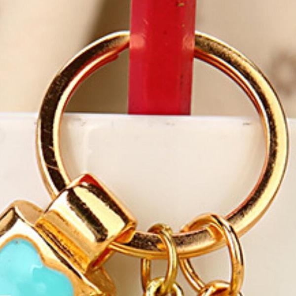Regalo-Creativo-Rhinestone-Cute-Gourd-Car-Key-Chain-Mujer-Bolsa-Colgante-Llavero miniatura 11