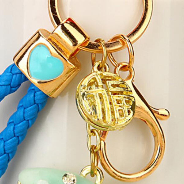 Regalo-Creativo-Rhinestone-Cute-Gourd-Car-Key-Chain-Mujer-Bolsa-Colgante-Llavero miniatura 12