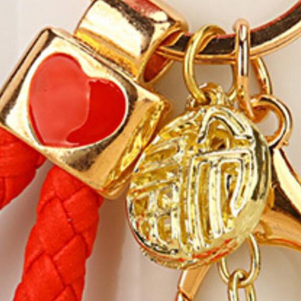 Regalo-Creativo-Rhinestone-Cute-Gourd-Car-Key-Chain-Mujer-Bolsa-Colgante-Llavero miniatura 17
