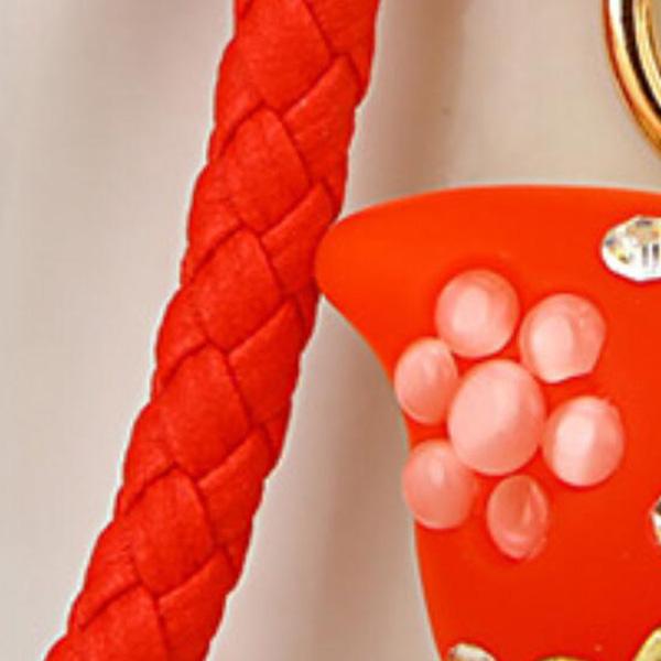 Regalo-Creativo-Rhinestone-Cute-Gourd-Car-Key-Chain-Mujer-Bolsa-Colgante-Llavero miniatura 19