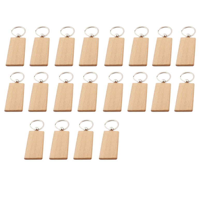 20Pcs-Blank-Wooden-Key-Chain-Diy-Wood-Keychains-Key-Tags-Gifts-Yellow-G5J3 thumbnail 3