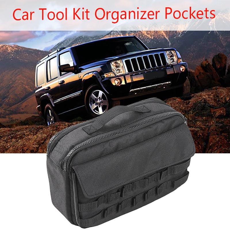 Auto-Werkzeug-Kit-Organisator-Taschen-Aufbewahrung-Tasche-Fit-fuer-Jeep-Wran-T7B8 Indexbild 6