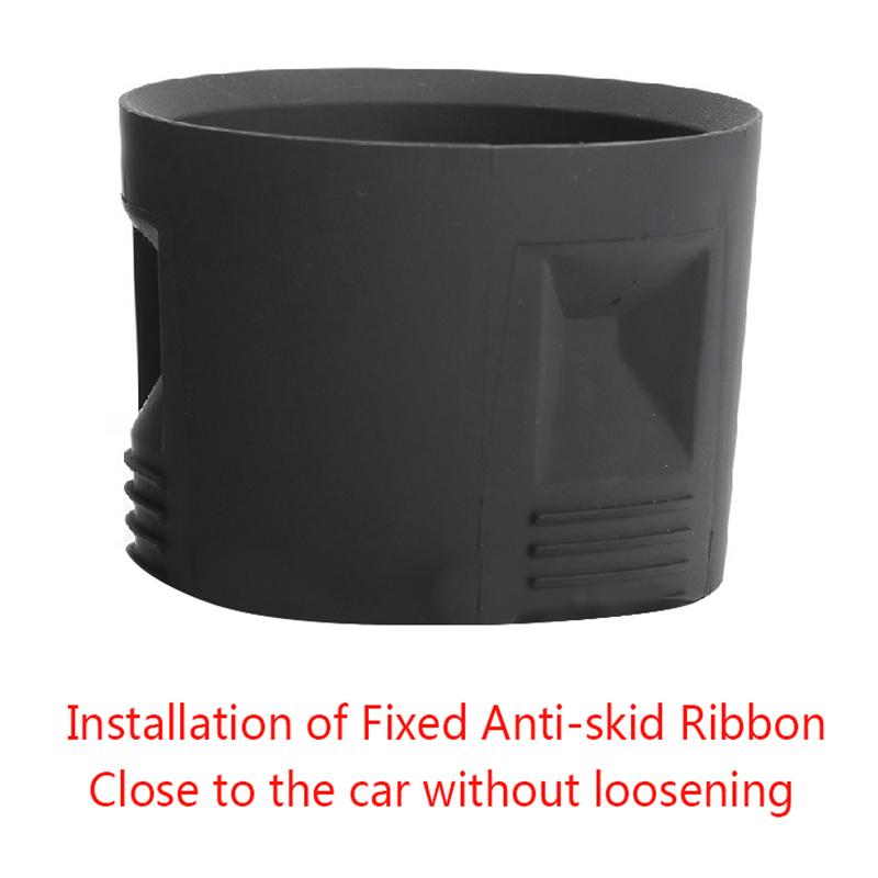 Nrpfell 2Pcs Car Cup Holder Insert Expander Drink Rack Fit for Tesla Model 3 Black