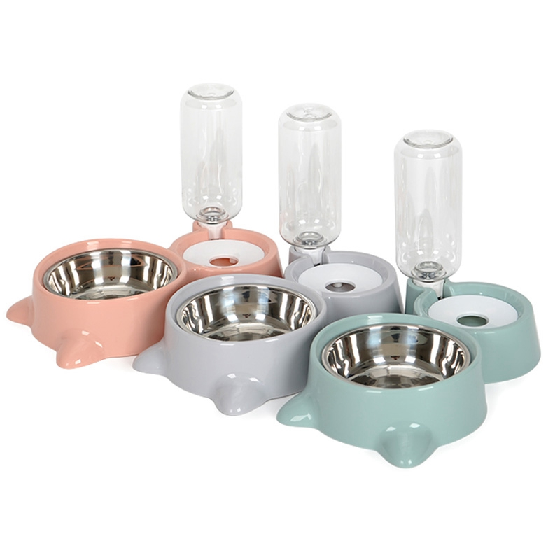 thumbnail 15 - Cat Bowl Dog Water Feeder Bowl Cat Kitten Drinking Fountain Food Dish Pet BY3N4