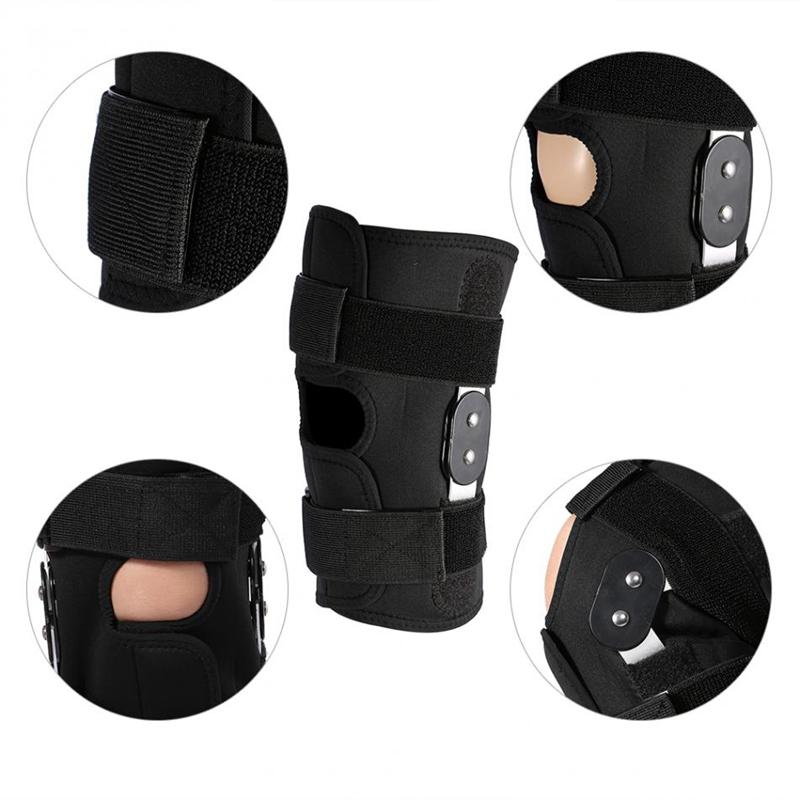 1X-Einstellbare-Knie-Orthese-Orthese-Patella-Knie-Festsetzung-Pad-HueLse-KniL4F6 Indexbild 3