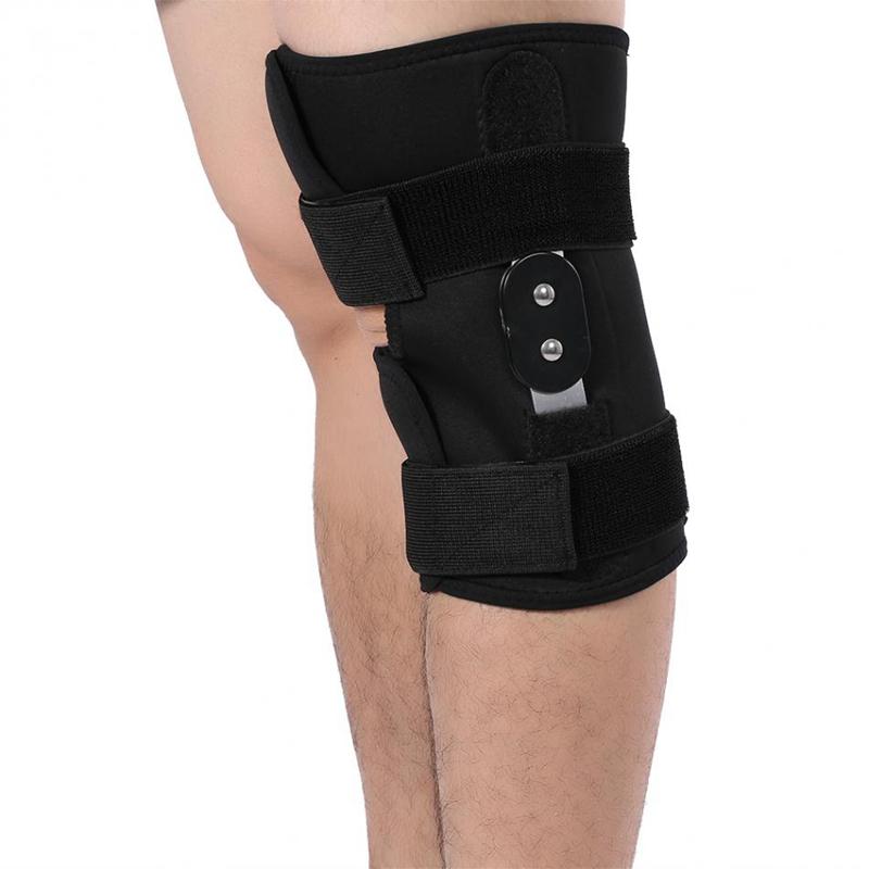 1X-Einstellbare-Knie-Orthese-Orthese-Patella-Knie-Festsetzung-Pad-HueLse-KniL4F6 Indexbild 4