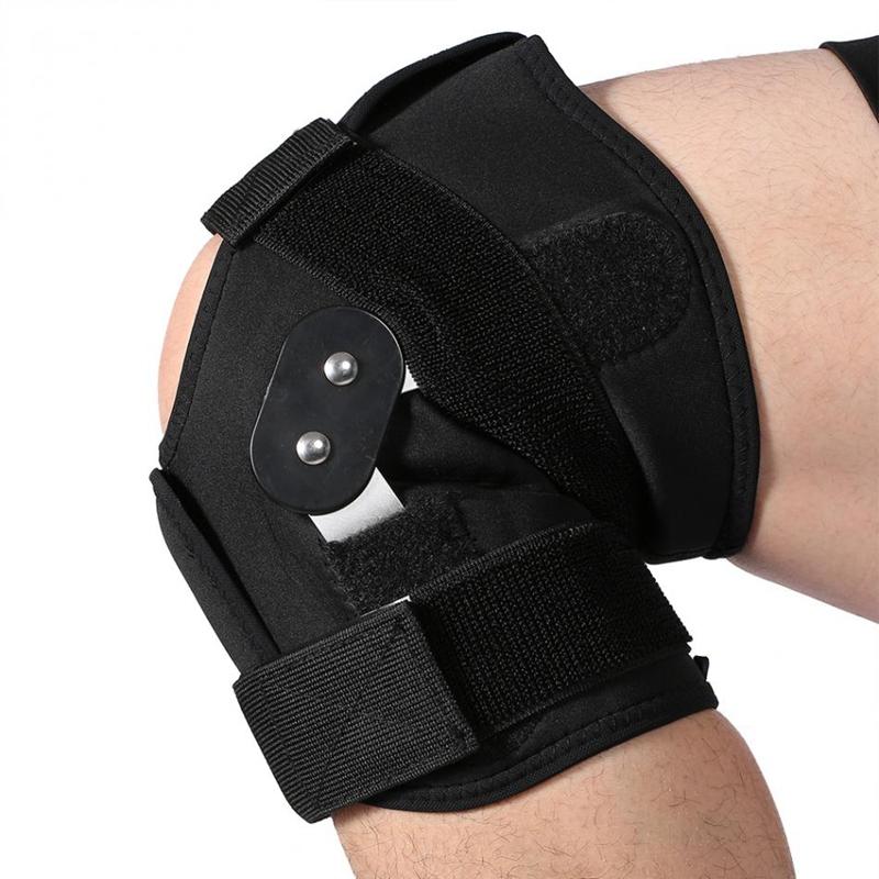 1X-Einstellbare-Knie-Orthese-Orthese-Patella-Knie-Festsetzung-Pad-HueLse-KniL4F6 Indexbild 5