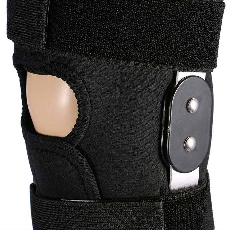1X-Einstellbare-Knie-Orthese-Orthese-Patella-Knie-Festsetzung-Pad-HueLse-KniL4F6 Indexbild 7