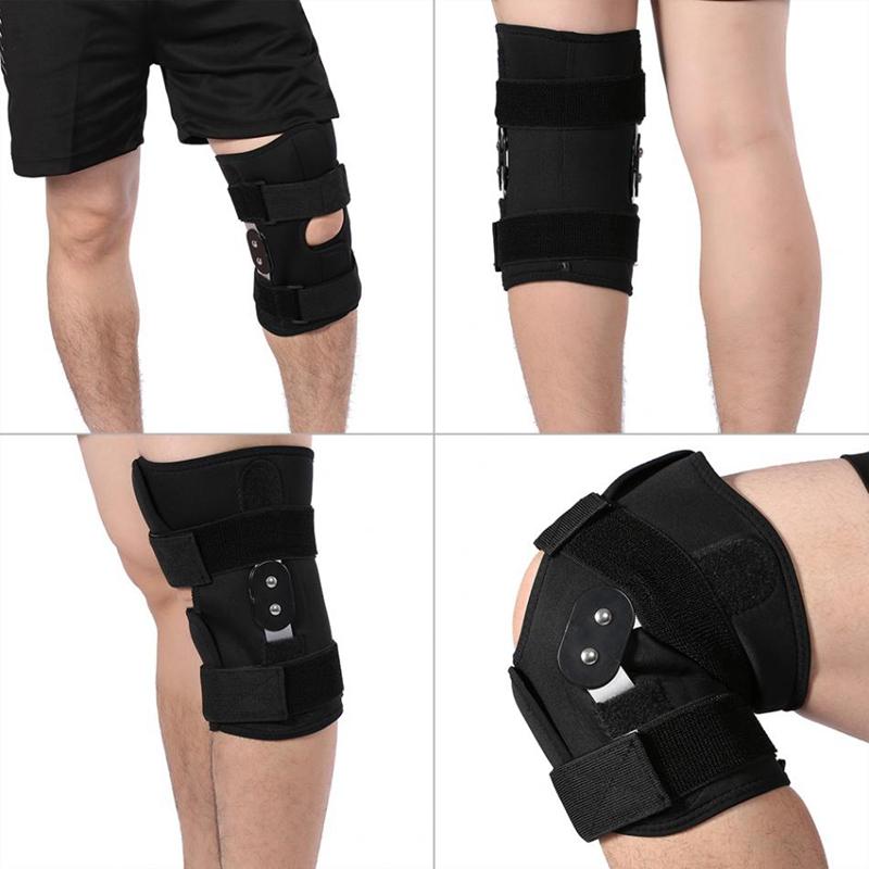 1X-Einstellbare-Knie-Orthese-Orthese-Patella-Knie-Festsetzung-Pad-HueLse-KniL4F6 Indexbild 8