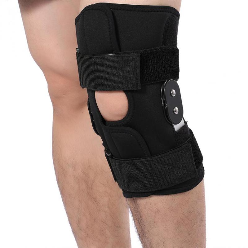 1X-Einstellbare-Knie-Orthese-Orthese-Patella-Knie-Festsetzung-Pad-HueLse-KniL4F6 Indexbild 9