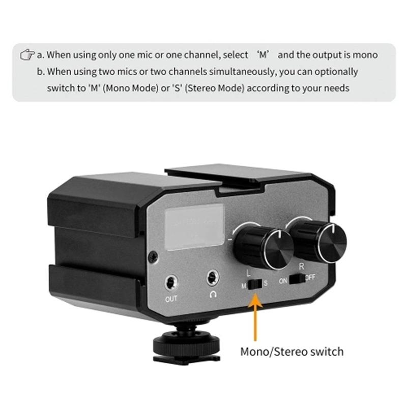 Cámara SLR 3.5mm externa micrófono estéreo micrófono para Nikon D DV Videocámara V8J4