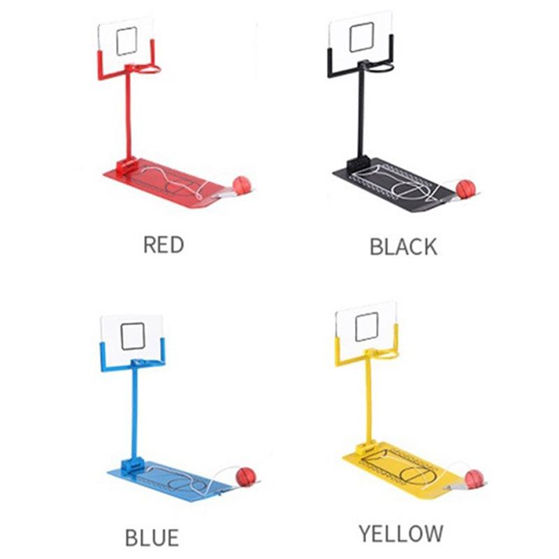 Juguete-de-Alivio-de-EstreS-Mini-Juego-de-Baloncesto-Plegable-Mesa-de-Escri-Y2M8 miniatura 3