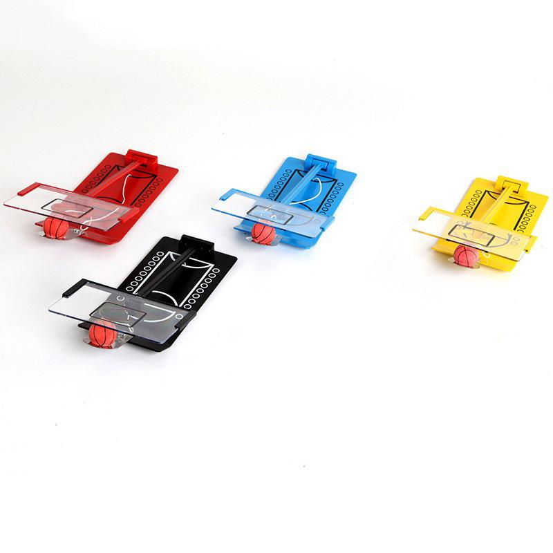 Juguete-de-Alivio-de-EstreS-Mini-Juego-de-Baloncesto-Plegable-Mesa-de-Escri-Y2M8 miniatura 4