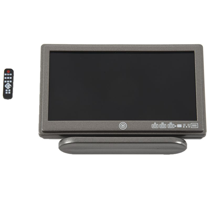 1X-Dollhouse-Miniature-Widescreen-Flat-Panel-LCD-TV-with-Remote-Gray-K5V7 thumbnail 2