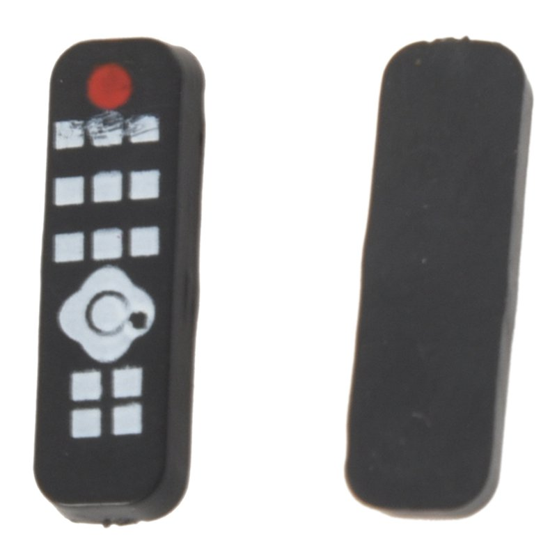 1X-Dollhouse-Miniature-Widescreen-Flat-Panel-LCD-TV-with-Remote-Gray-K5V7 thumbnail 3