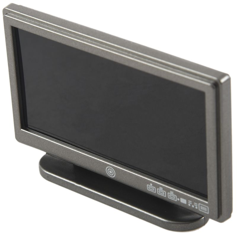 1X-Dollhouse-Miniature-Widescreen-Flat-Panel-LCD-TV-with-Remote-Gray-K5V7