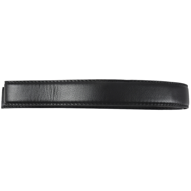 Luxury Men/'s Leather Automatic Ribbon Waist Strap Belt Without Buckle Black A1P6
