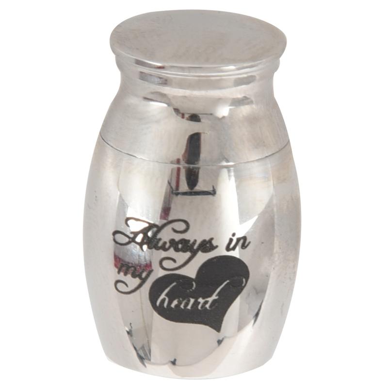 Stainless Steel Cremation Urn Ash Holder Mini Keepsake Funeral Urns 25x16mm