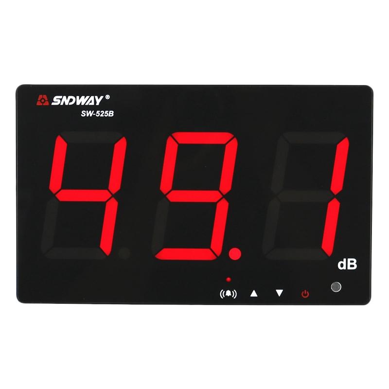 1X (sndway  Fonometro digitale 30-130Db muro da appendere tipo rumore decibe G3M1  punto vendita