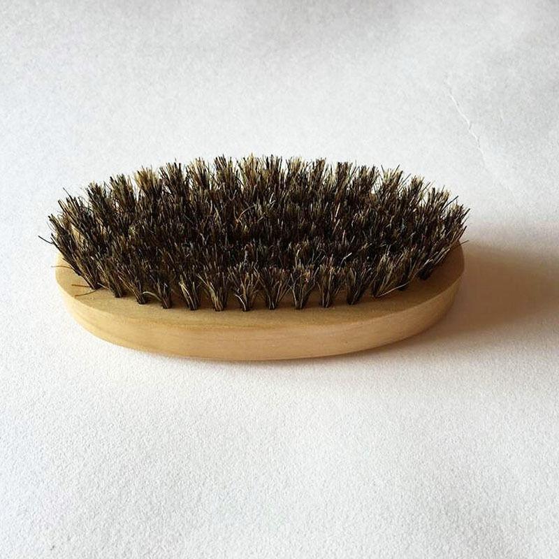 2X-2Pcs-Poil-de-Sanglier-Poil-Dur-Bois-Manche-en-Bois-Barbe-Moustache-Pince-R4A2 miniature 6