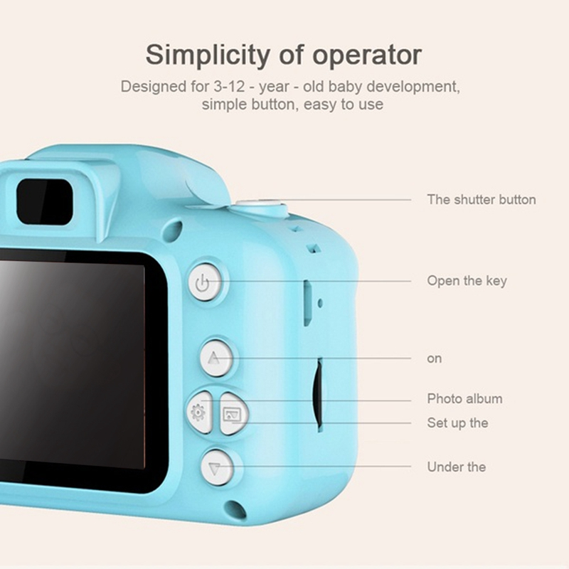 2X-Dc500-Full-Color-Mini-Digital-Camera-for-Children-Kids-Baby-Cute-Camcord-S8P1 thumbnail 6