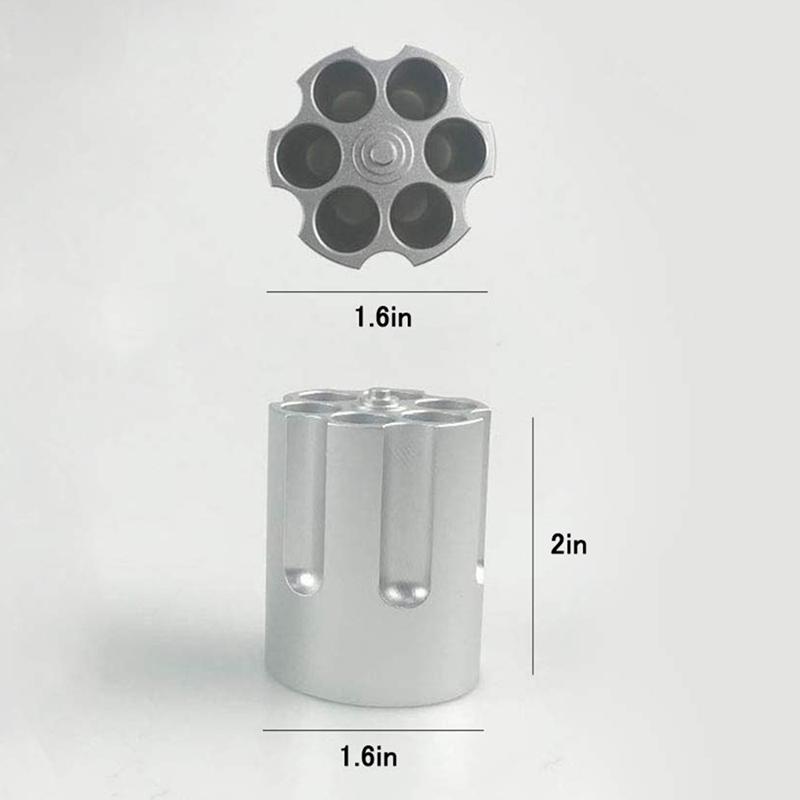 Cylinder Pen Holder Revolver Pen Holder with 6 Slots Pen Pencil Holder Cyli R8O9