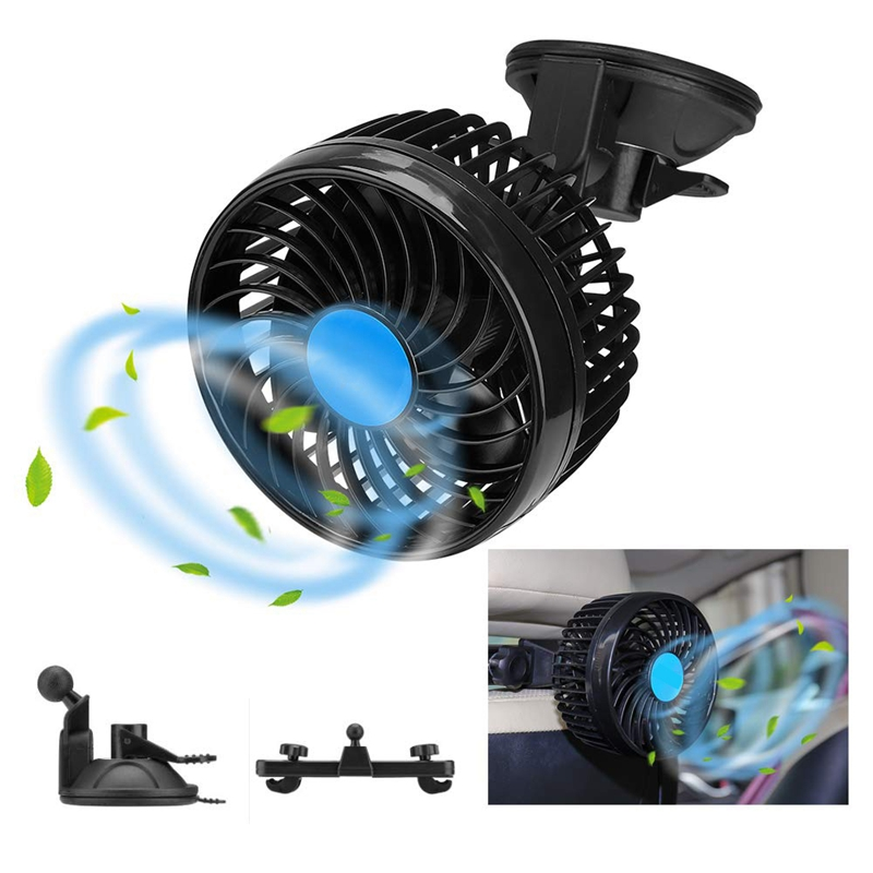 2X-Auto-Ventilator-Auto-Kfz-Luefter-Auto-Kuehlluftventilator-Gebl-Mit-12V-AutS1G5 Indexbild 2