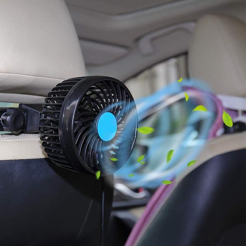 2X-Auto-Ventilator-Auto-Kfz-Luefter-Auto-Kuehlluftventilator-Gebl-Mit-12V-AutS1G5 Indexbild 5