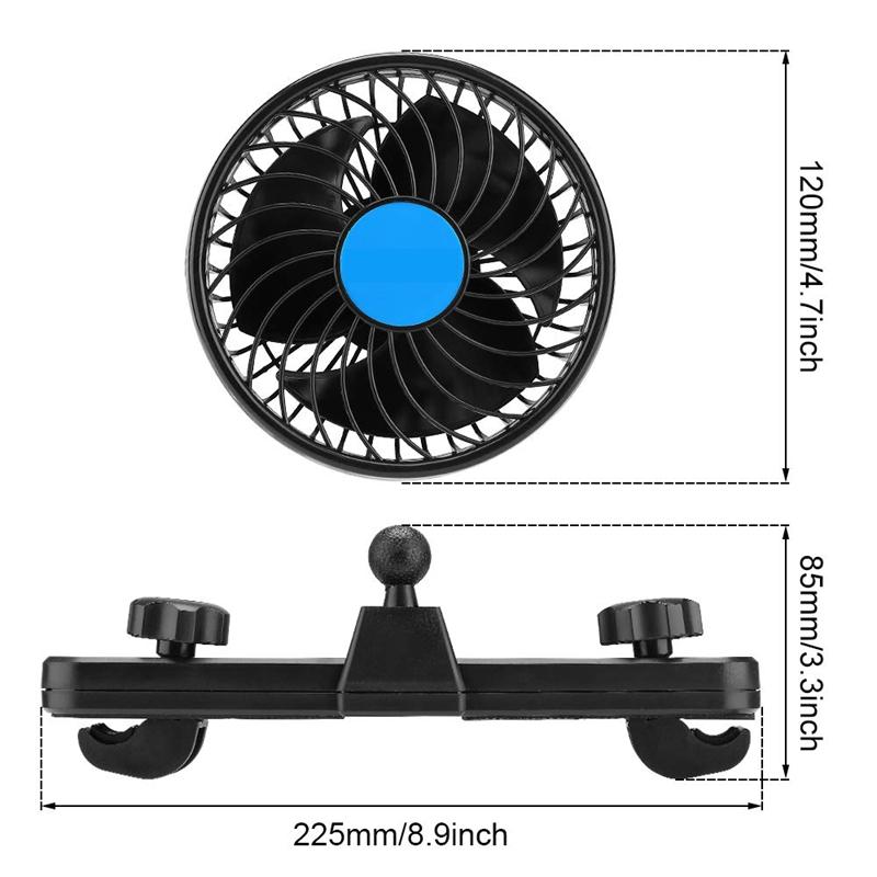 2X-Auto-Ventilator-Auto-Kfz-Luefter-Auto-Kuehlluftventilator-Gebl-Mit-12V-AutS1G5 Indexbild 6