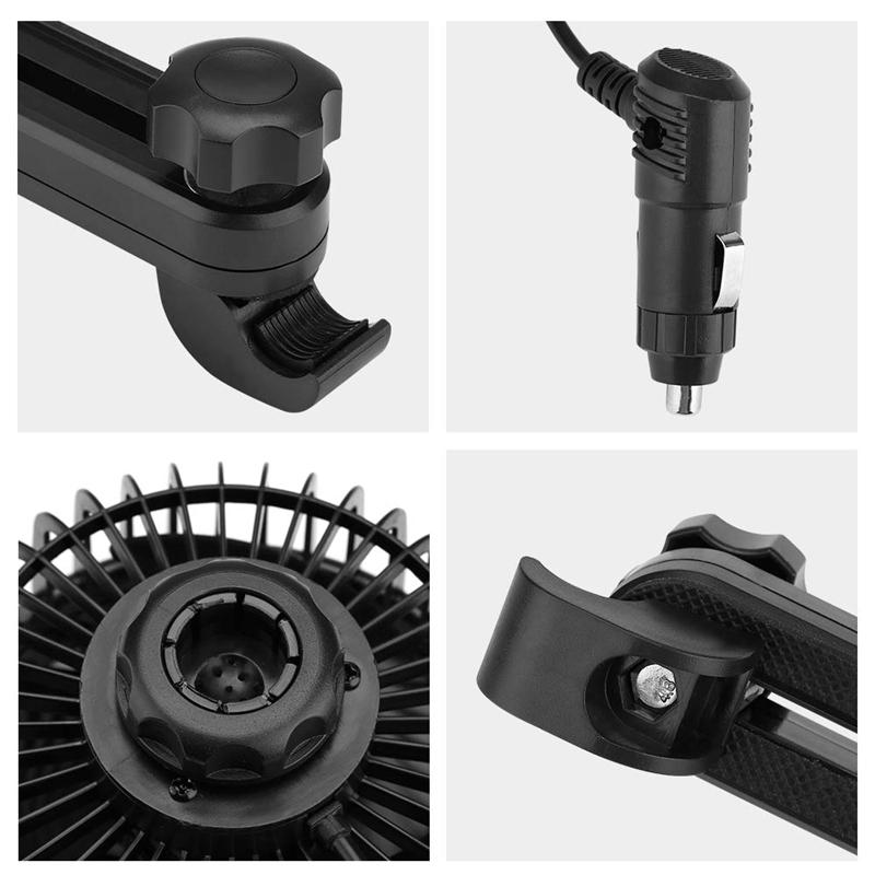 2X-Auto-Ventilator-Auto-Kfz-Luefter-Auto-Kuehlluftventilator-Gebl-Mit-12V-AutS1G5 Indexbild 8