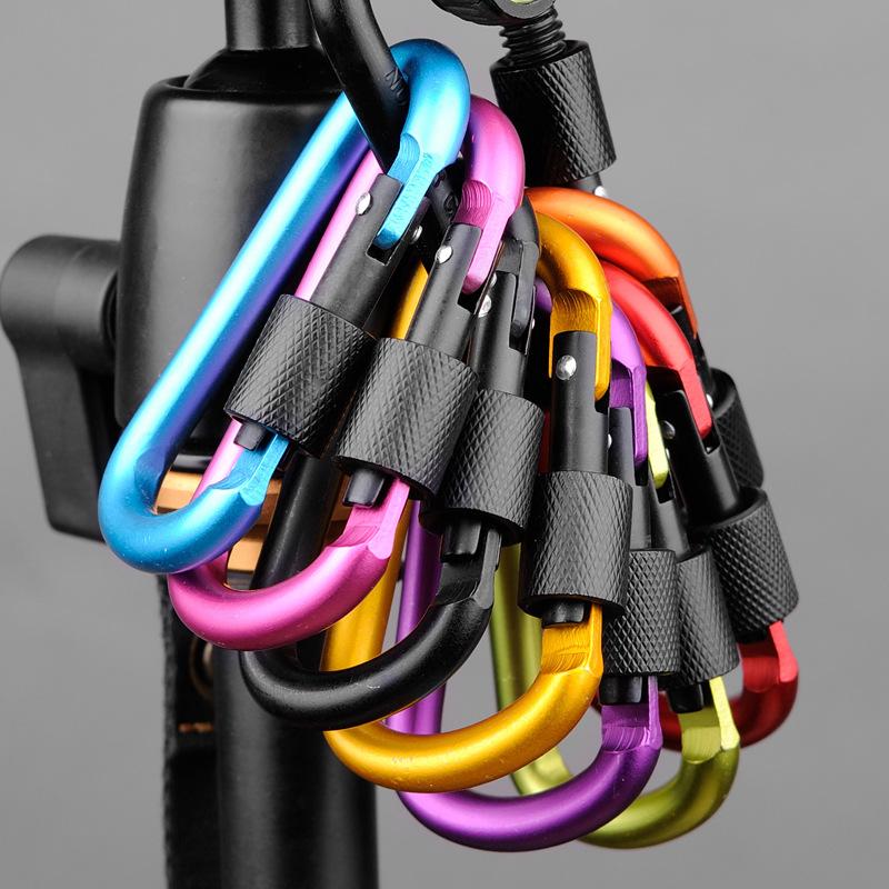 MosquetoN-de-Aluminio-de-20-Piezas-y-8-Cm-Clip-para-Llavero-con-Anillo-en-D-F3T3 miniatura 2