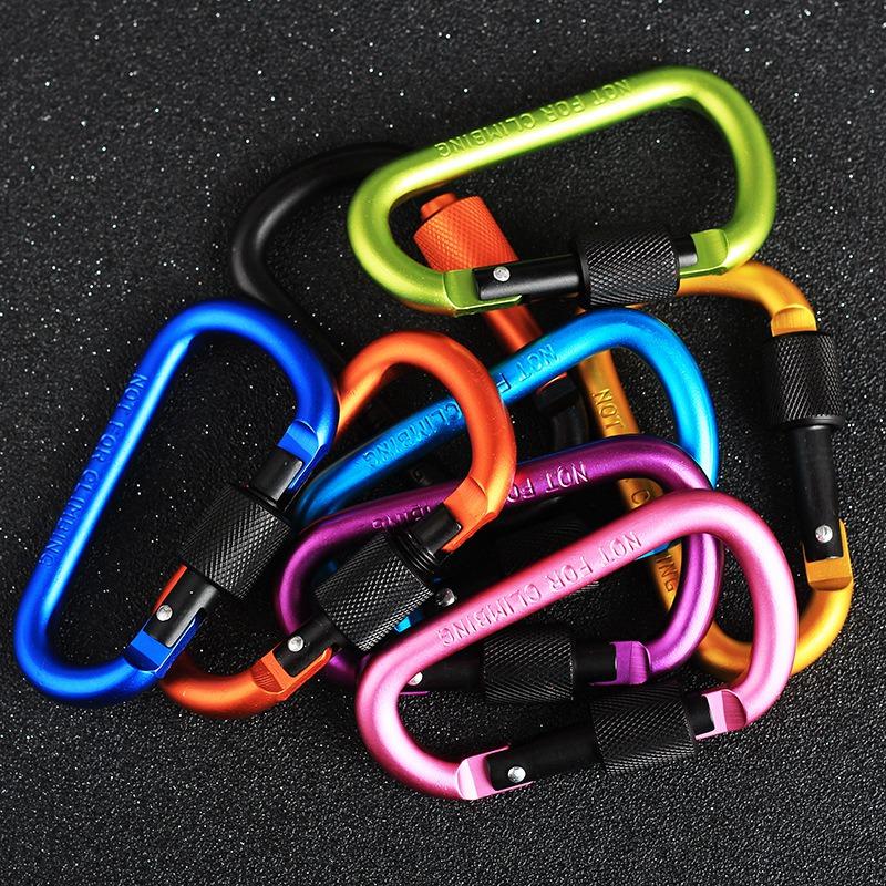 MosquetoN-de-Aluminio-de-20-Piezas-y-8-Cm-Clip-para-Llavero-con-Anillo-en-D-F3T3 miniatura 5