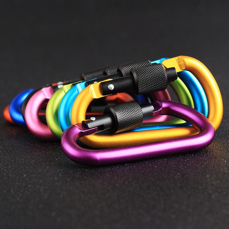 MosquetoN-de-Aluminio-de-20-Piezas-y-8-Cm-Clip-para-Llavero-con-Anillo-en-D-F3T3 miniatura 6