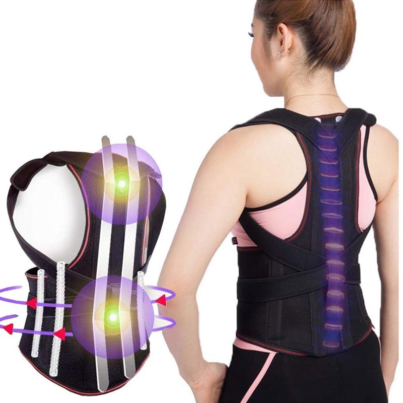 1X-1Pcs-Confort-Posture-Correcteur-Soutien-de-Dos-Dorsal-AmeLiorer-la-W4C8 miniature 5