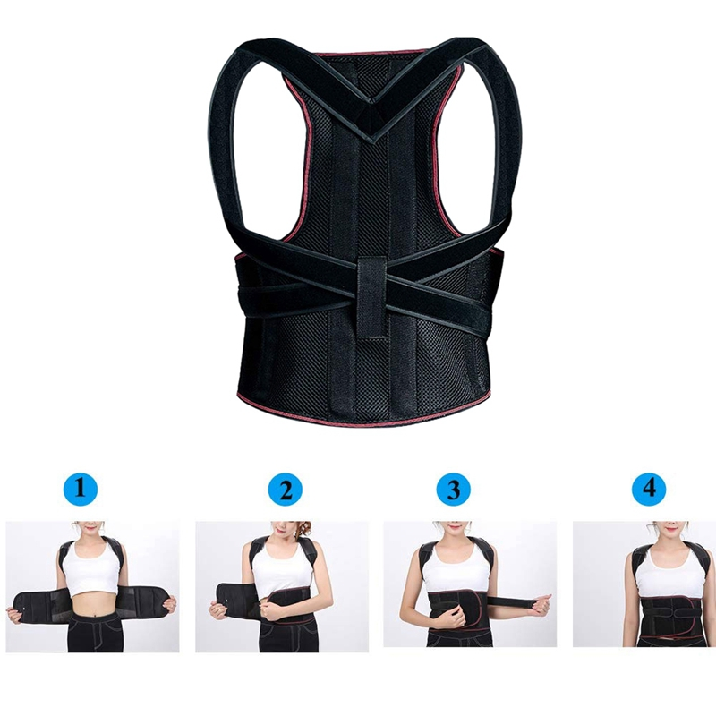 1X-1Pcs-Confort-Posture-Correcteur-Soutien-de-Dos-Dorsal-AmeLiorer-la-W4C8 miniature 9