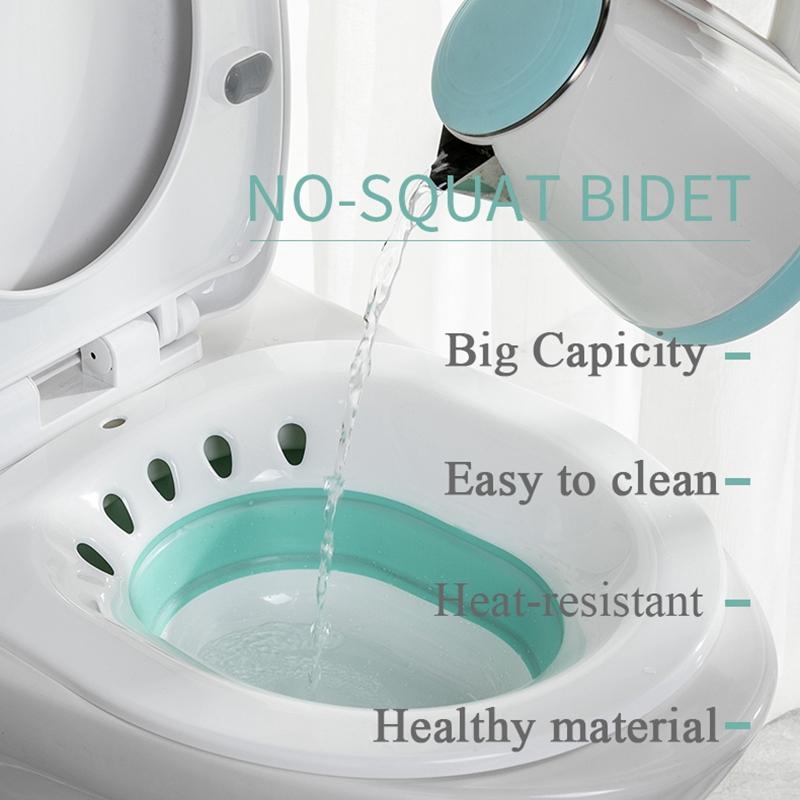 1X-Folding-Woman-Bidet-Sauna-Hip-Irrigator-Perineum-Soaking-Bath-Pregnant-BR4E9 thumbnail 17