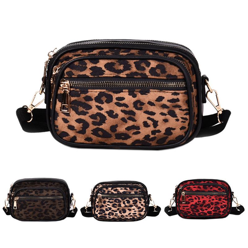 bien fuera x el más baratas fotos nuevas Detalles de Bolso Bandolera de Moda para Mujer Bolso Bandolera Bolsos  PequeñOs Leopardo B9G6