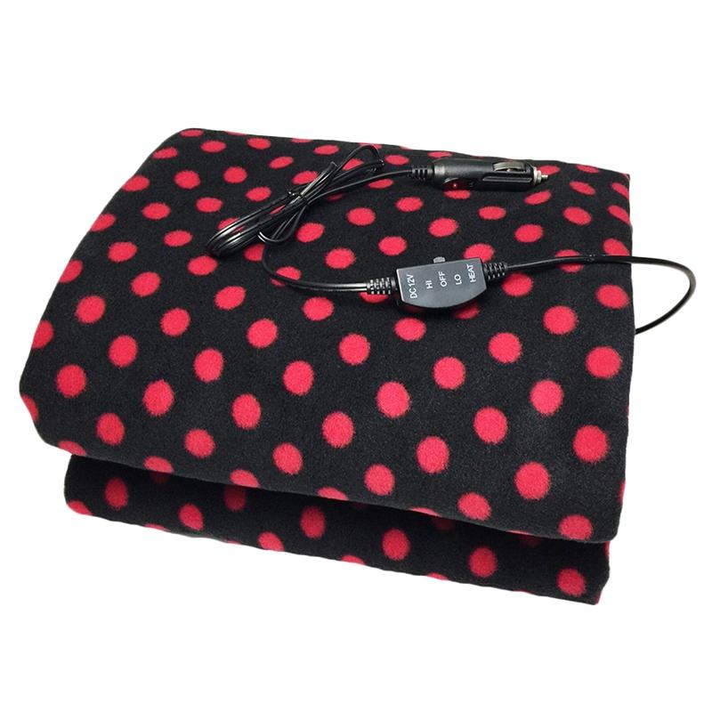 Car Electric Heating Blanket 12v Lattice Fleece Car Supplies