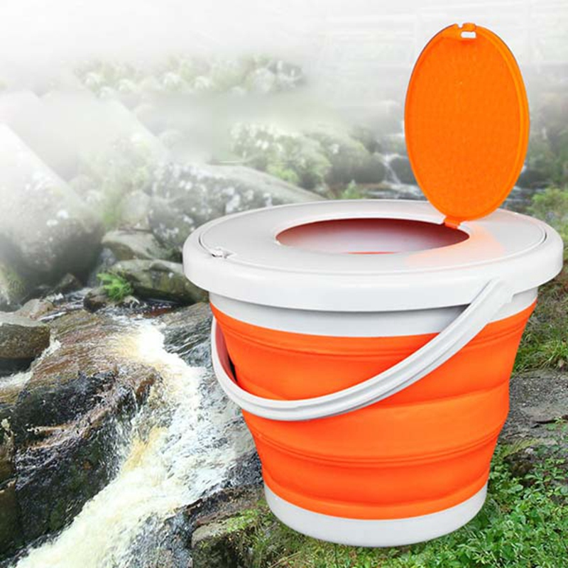Portable-Folding-Bucket-Foldable-Basin-Tourism-Outdoor-Folding-Bucket-with-X5Y1 thumbnail 3