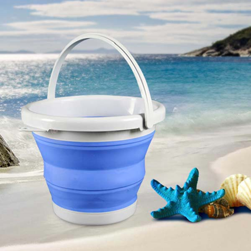 Portable-Folding-Bucket-Foldable-Basin-Tourism-Outdoor-Folding-Bucket-with-X5Y1 thumbnail 5