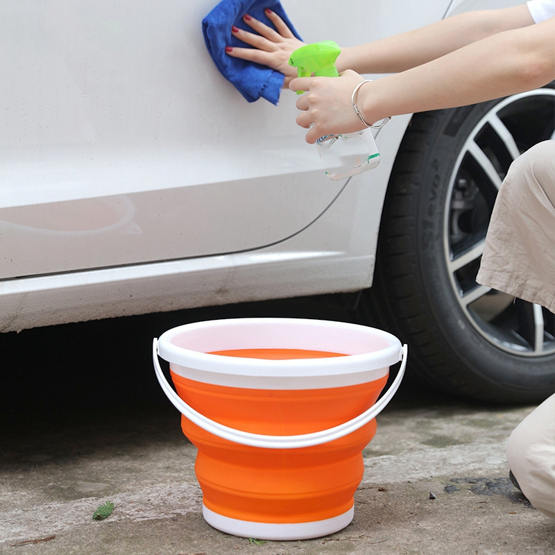 Portable-Folding-Bucket-Foldable-Basin-Tourism-Outdoor-Folding-Bucket-with-X5Y1 thumbnail 6
