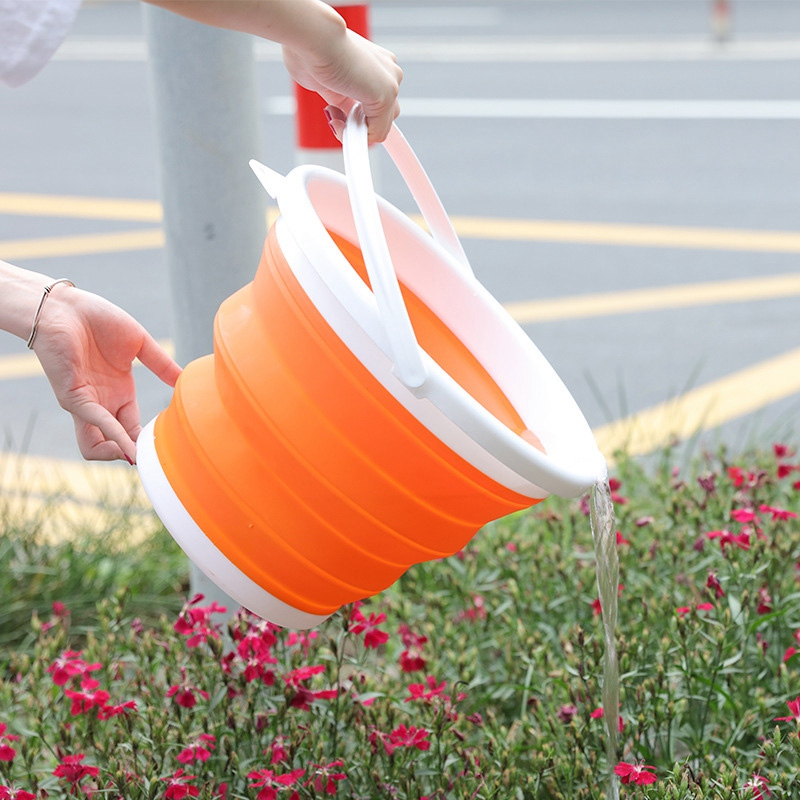 Portable-Folding-Bucket-Foldable-Basin-Tourism-Outdoor-Folding-Bucket-with-X5Y1 thumbnail 7