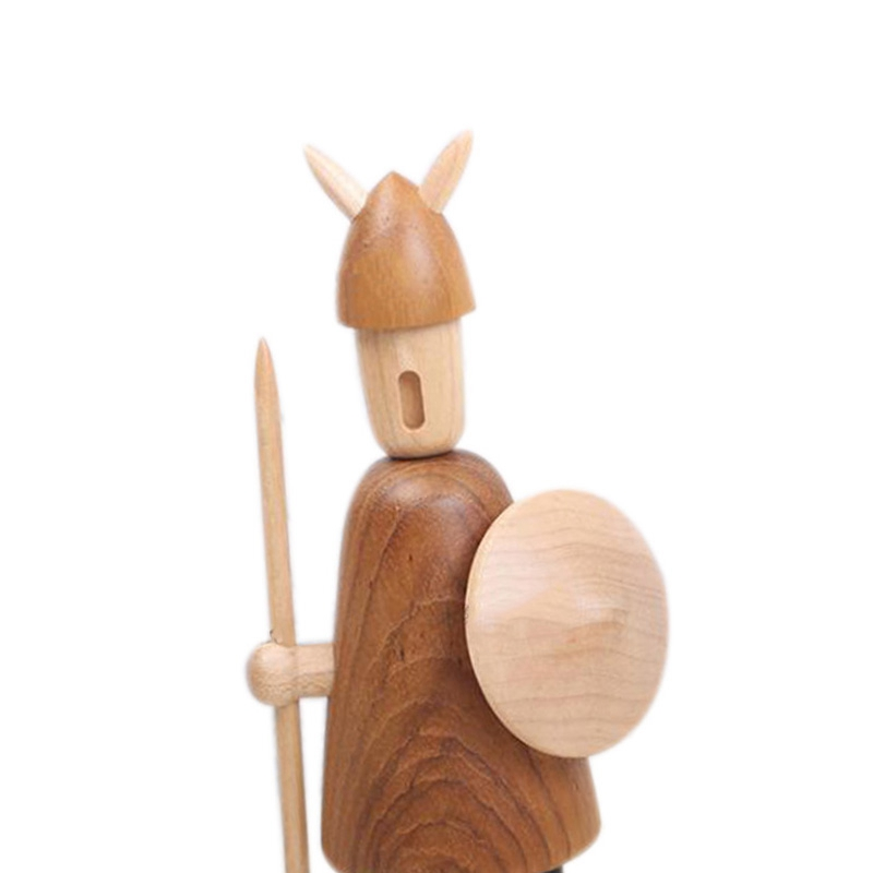Nordic Wood Tallado Vikingos Vikingos Decoraciones para el Hogar Decoracion V2U6 4