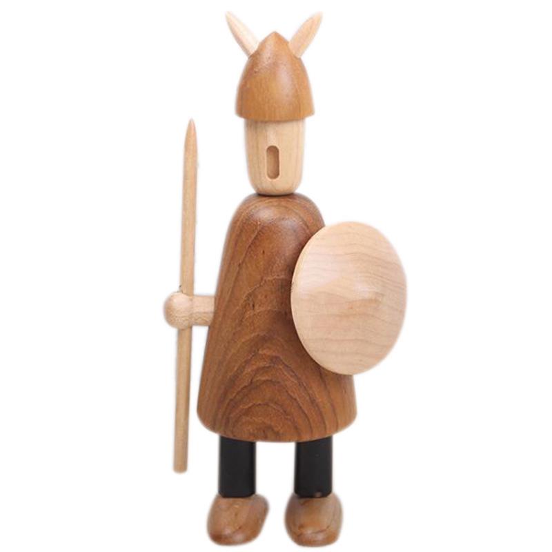 Nordic Wood Tallado Vikingos Vikingos Decoraciones para el Hogar Decoracion V2U6