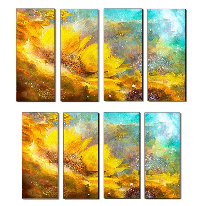 5X(Arte de la Parot DecoracióN Del Hogar Quad Arte Abstracto Sofá de Giraso 2F3)