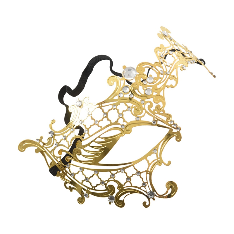 Mascara-de-fantasma-de-filigrana-de-metal-brillante-para-mascarada-venecian-Z5J8 miniatura 13