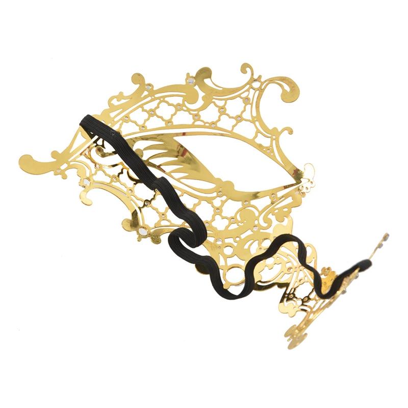 Mascara-de-fantasma-de-filigrana-de-metal-brillante-para-mascarada-venecian-Z5J8 miniatura 14