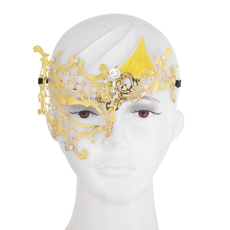Mascara-de-fantasma-de-filigrana-de-metal-brillante-para-mascarada-venecian-Z5J8 miniatura 15