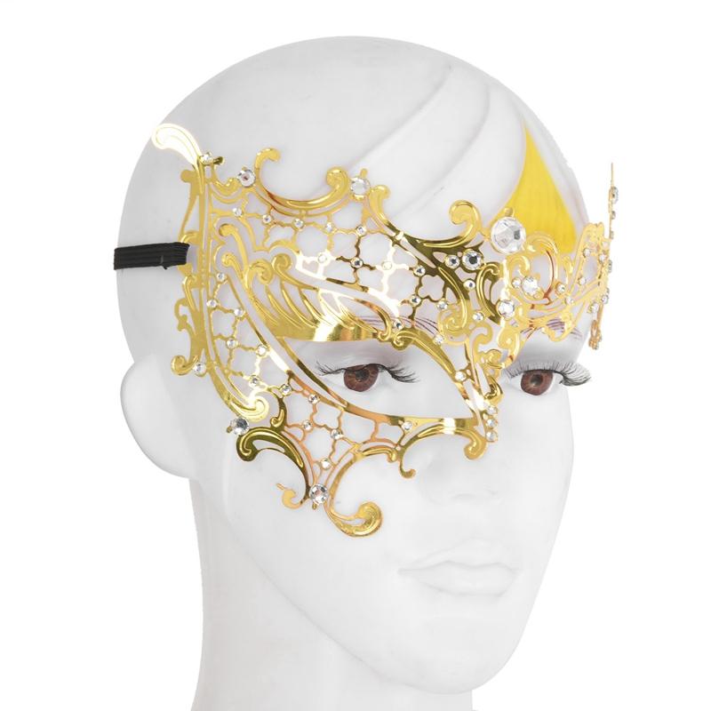 Mascara-de-fantasma-de-filigrana-de-metal-brillante-para-mascarada-venecian-Z5J8 miniatura 16