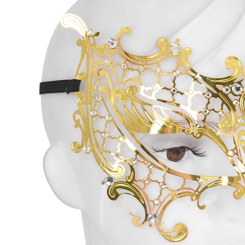 Mascara-de-fantasma-de-filigrana-de-metal-brillante-para-mascarada-venecian-Z5J8 miniatura 19